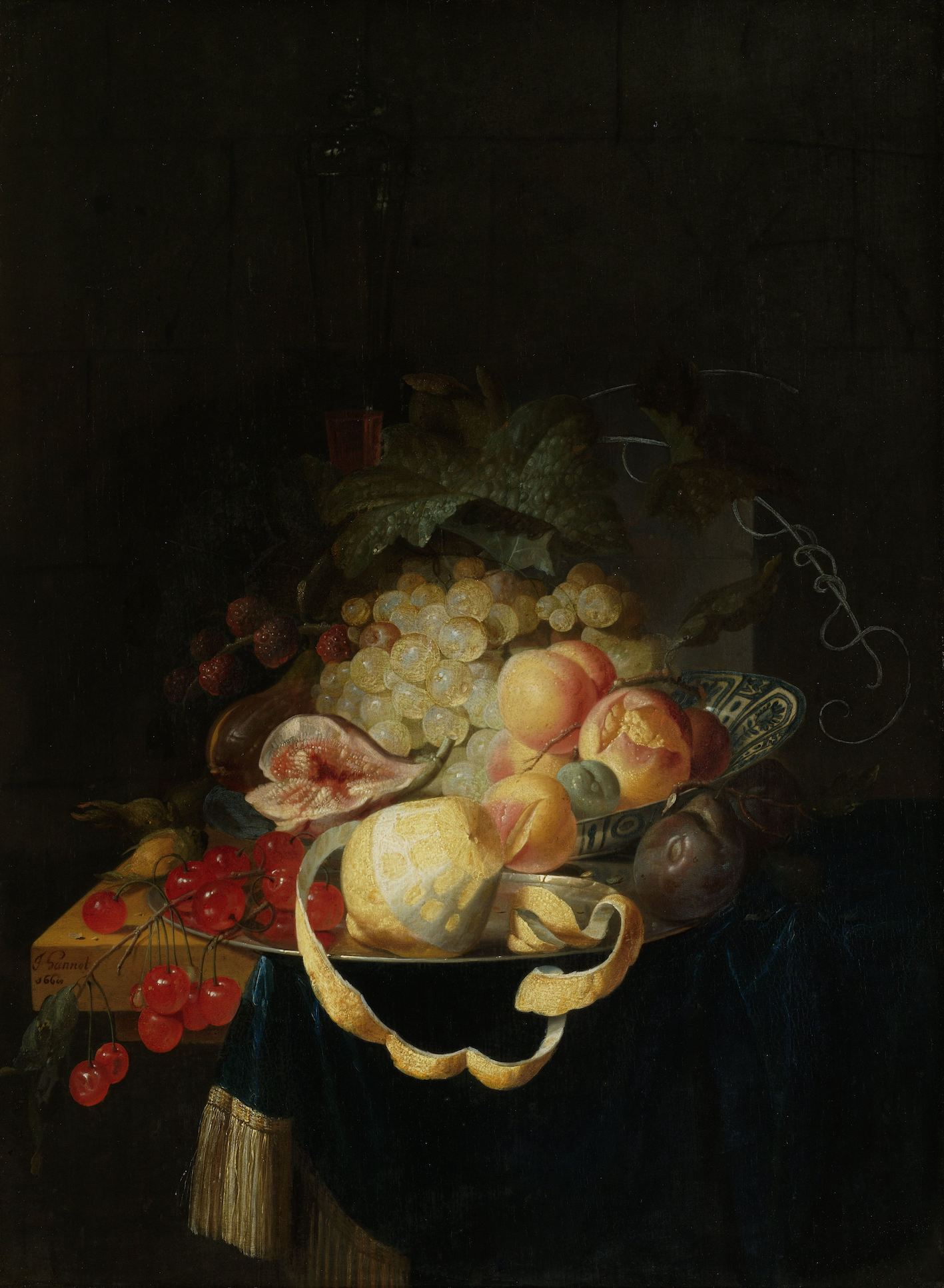 Still life with fruit (1668) by Johannes Hannot