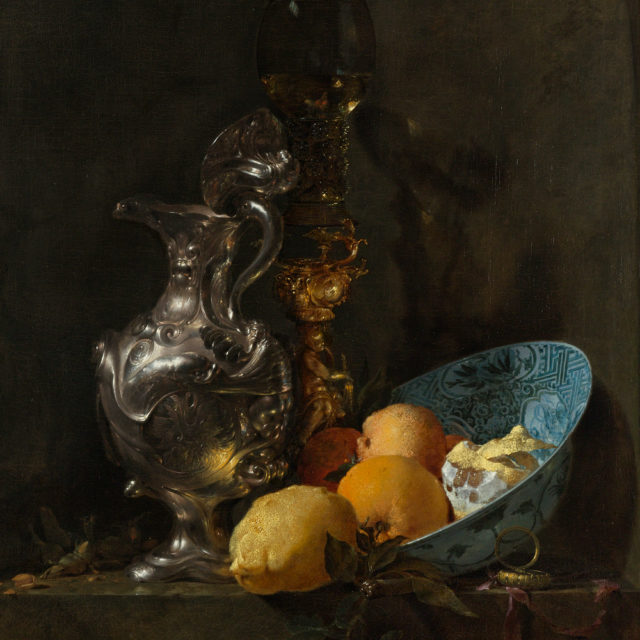 still-life-with-a-silver-jug-and-a-porcelain-bowl-willem-kalf